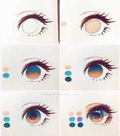 art dibujos howtomanga if youre a Manga Artist Source # Eye Drawing Tutorials, Digital Painting Tutorials, Digital Art Tutorial, Drawing Techniques, Art Tutorials, Realistic Eye Drawing, Drawing Eyes, Manga Drawing, Figure Drawing
