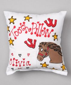 Loving this Red Horse Personalized Tooth Pillow on #zulily! #zulilyfinds