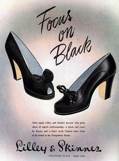 Vintage shoes ad