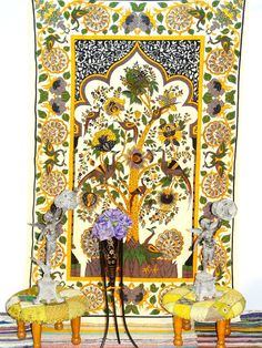 Beautiful Indian Tree Of Life Wall Hanging Indian by Ayatcreation, $16.99