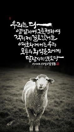 [BY 엘림씀] 우리는 다 양 같아서 그릇 행하여 각기 제 길로 갔거늘여호와께서는 우리 모두의 죄악을 그...