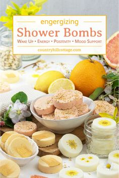 See how to make 3 easy aromatherapy shower bombs recipe for wake up shower melts, uplifting citrus shower steamers and energizing shower fizzies. Homemade Bath Bombs, Homemade Soap Recipes, Spa Tag, Natural Showers, Shower Bombs, Shower Steamers, Bath Bomb Recipes, Diy Shower, Belleza Natural