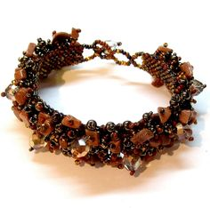 'Handmade Goldstone Beaded Bracelet' is going up for auction at  3pm Wed, Jul 18 with a starting bid of $8.
