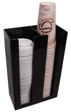 For cups and lids 2 Sl Cup Lid Holder Dispenser Organizer Coffee Cup Caddy Organize Your Coffee Counter with Style Coffee Area, Coffee Room, Coffee Drinks, Coffee Cups, Coffee Beans, Coffee Percolator, Decaf Coffee, Coffee Creamer, Starbucks Coffee