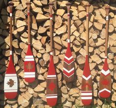 Canada Collection painted canoe paddles
