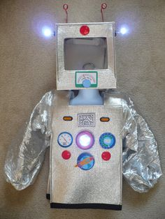 Cute Robot Costume Really Lights Upsize XS 24 for by SoSewMimi