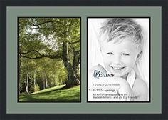 ArtToFrames Collage Photo Frame Double Mat with 2  12x16 Openings and Satin Black Frame * You can get additional details at the image link.