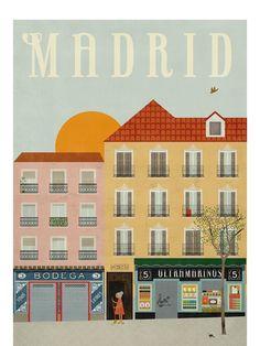 Madrid Poster (50x70cm)