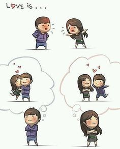 HJ Story - Love is… being stubborn We all fight sometimes. Hj Story, Girls In Love, What Is Love, My Love, Cute Love Stories, Love Story, Love Fight, Funny Love Pictures, Cartoons Love