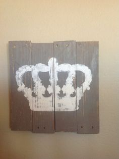 Handpainted Crown pallet sign by FancifulShenanigans on Etsy