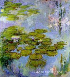 Água lírios 38 by claude monet pintura de paisagem presente feito sob encomenda de alta qualidade pintados à mão