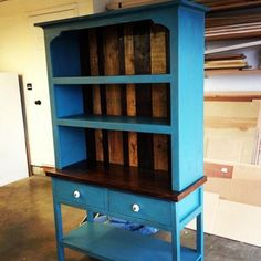 """Check out this amazing hutch! Built from plans in """"The Handbuilt Home"""". Hundreds of more free plans like this one at Ana-White.com"""