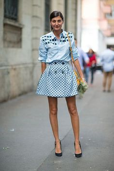 20 Looks with Giovanna Battaglia ( Street style) Glamsugar.com Milan Street Style