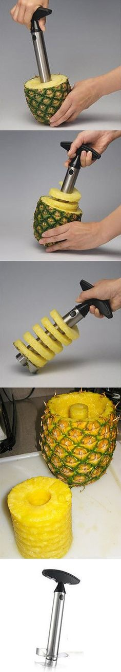 easy eat pineapple - I love this - and this little machine and the pineapple