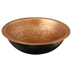"18"" Adra Hammered Copper Sink in Brushed Nickel.  Signature Hardware, $360.00"