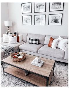 Living Room Decor Grey Couch, New Living Room, Living Room With Sectional, Living Room Apartment, Simple Living Room Decor, Best Living Room Design, Apartment Furniture, Gray Living Rooms, Apartment Couches
