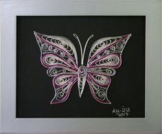 Филигран од срма-Пеперутка(мотив 16)16x13x1 - eKupi.mk - Вашата интернет продавница