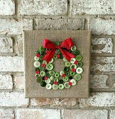 wreath out of buttons