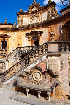 Garden of Baroque Villa Palagonia, Bagheria- palermo Sicily