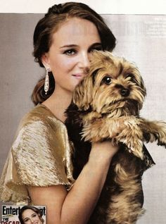 Natalie Portman and Whiz #yorkies