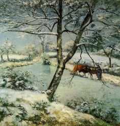 Winter at Montfoucault, 1875 - Camille Pissarro