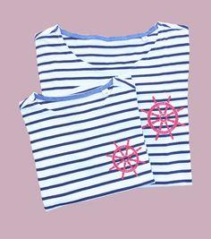 Camisetas marineras en Smartyfun #tshirt #camisetas #marinera #rayas #timón