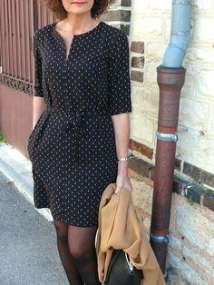 Kurta d'automne par Bee made - thread&needles Simple Dresses, Casual Dresses, Short Dresses, Casual Outfits, Boho Fashion, Fashion Dresses, Womens Fashion, Simple Wardrobe, Diy Vetement