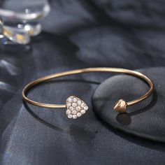 Elegant Cuff Bracelets Chain Dream Net Bowknot Crystal Heart Fashion Multilayer Bracelet for Women Fashion Bracelets, Cuff Bracelets, Bangles, Korean Fashion Casual, Pendant Earrings, Bracelet Sizes, Body Jewelry, Jewelry Watches, Women Jewelry