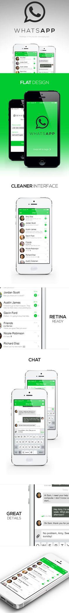 WhatsApp Redesign (iOS 7)
