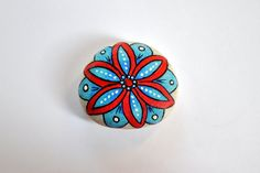 painted pebble paperweight