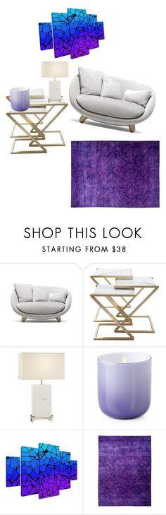 """Purple! (First House design)"" by lana-makuszenko ❤ liked on Polyvore featuring interior, interiors, interior design, home, home decor, interior decorating, Moooi, Fine Art Lamps, Jonathan Adler and Trademark Fine Art"