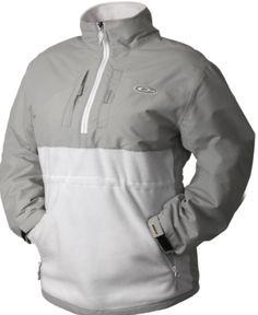 Eqwader Quarter Zip in White/ Gray