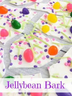 This Jellybean Bark #recipe is a perfect dessert for Easter!