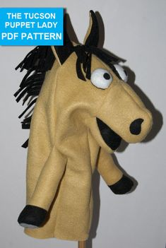 Horse Hand Puppet Pattern with Movable Mouth