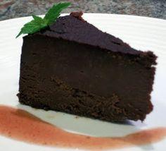Flourless dark chocolate tort