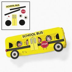 School Bus Egg Cartons Recycle Craft  Students will love putting pictures of themselves and their friends in the windows of the school bus!