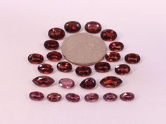 Sale  Mixed Lot of All Natural Garnets from scrap gold silver & vintage jewelry