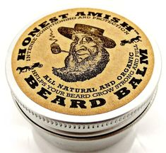 Honest Amish Beard Balm -  Men's Leave-in Beard Conditioner and Tamer - All Natural and ORGANIC with Argan - THE BEST