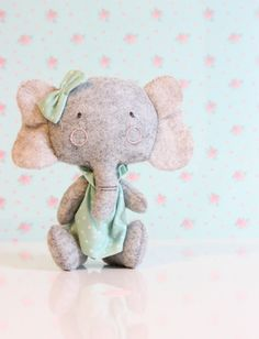 Mini Stuffed Animal #elephant | IG @minisbyvane | Shop www.minisbyvane.etsy.com