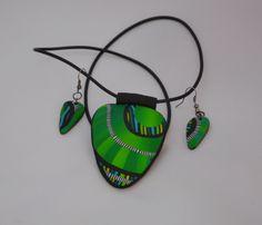 Polymer clay - Šperková sada z fima inspirována Evou Haškovou- vyrobila Šárka Štefančíková