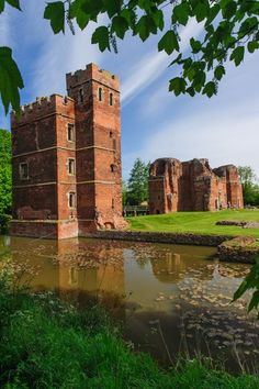 Kirby Muxloe Castle, Leicestershire, England is a 15th century fortified manor house built in 1480 by William Hastings, 1st Baron Hastings during the period of the Wars of the Roses