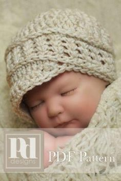 Crochet Newborn hat (a free Pattern) by NJ Walter - Oh, goodness. Puddle heart. SR <3