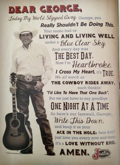 George Strait, forever the King of Country. I love this soooo much.
