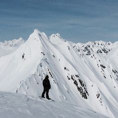 A man in the mountains. @MikeyRencz surveys his office for the day while filming in #Alaska.