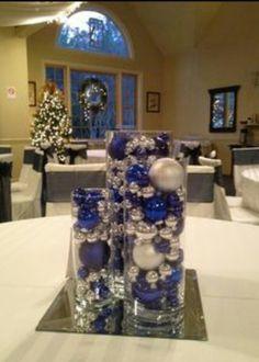 Pinterest navy silver weddings navy blue and silver wedding decor blue and silver christmas wedding centerpieces junglespirit Choice Image