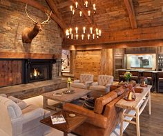We designed the Rustic Retreat for a couple who cherished large gatherings of family and friends at their cabin. They wanted it to feel rustic, yet contemporary and inviting. TEA2 Architects with John Kraemer & Sons Custom Builders.