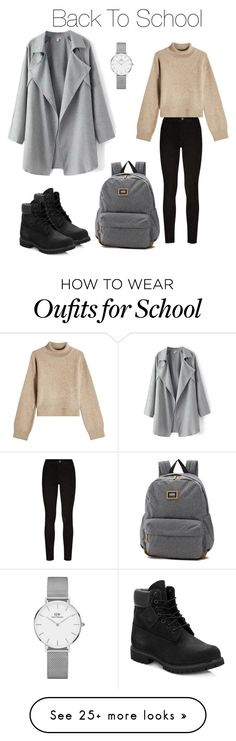 """Back To School"" by milckyway on Polyvore featuring Paige Denim, Rejina Pyo, Daniel Wellington, Vans and Timberland"