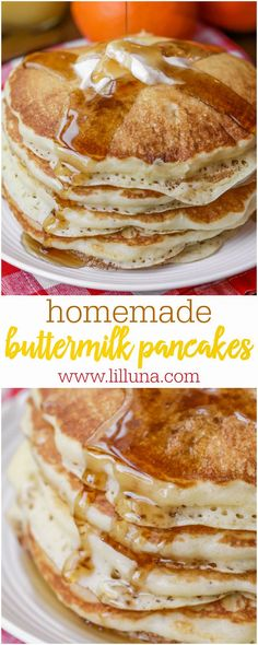 The BEST and EASIEST Buttermilk Pancakes