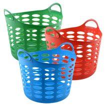 Bulk Round Plastic Laundry Baskets With Handles At Dollartree Com Laundry Basket Plastic Laundry Basket Laundry Storage