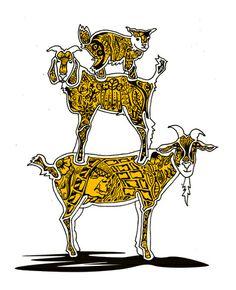 #goatvet likes this print of Billy Goats Gruff (Art Print)
